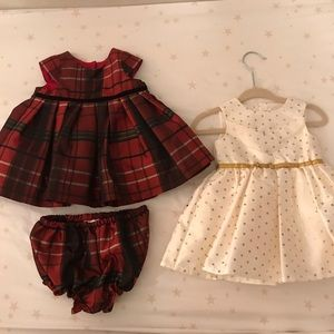 (2) baby occasion dresses - 3 month